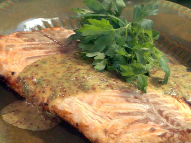 salmon with honey mustard bobby flay